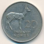 Замбия, 20 нгве (1988 г.)