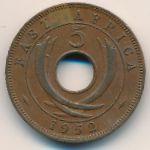 Восточная Африка, 5 центов (1949–1952 г.)