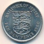 Джерси, 10 новых пенсов (1968–1980 г.)