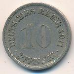 Германия, 10 пфеннигов (1911 г.)