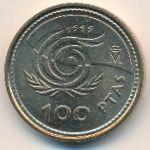Испания, 100 песет (1999 г.)