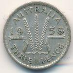 Австралия, 3 пенса (1958 г.)