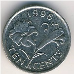 Bermuda Islands, 10 cents, 1986–1997