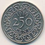 Суринам, 250 центов (1989 г.)