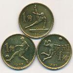 Китай, Набор монет (1987 г.)