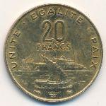Джибути, 20 франков (1999 г.)