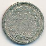 Нидерланды, 10 центов (1937 г.)