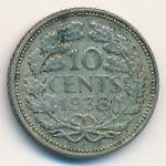 Нидерланды, 10 центов (1938 г.)