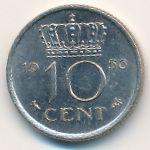 Нидерланды, 10 центов (1956 г.)
