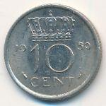 Нидерланды, 10 центов (1959 г.)