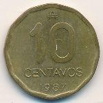 Аргентина, 10 сентаво (1987 г.)
