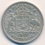 Австралия, 1 флорин (1951 г.)
