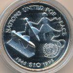 Либерия, 10 долларов (1995 г.)