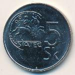 Словакия, 5 крон (1995 г.)