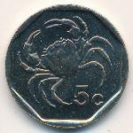 Мальта, 5 центов (2001 г.)