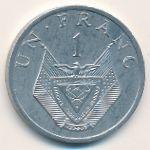 Руанда, 1 франк (1977–1985 г.)