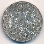 Австрия, 20 крейцеров (1870 г.)
