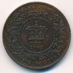 Новая Шотландия, 1/2 цента (1861 г.)