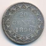 Ньюфаундленд, 20 центов (1896 г.)