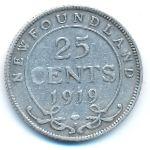 Ньюфаундленд, 25 центов (1919 г.)