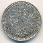 Австрия, 10 крейцеров (1870 г.)