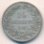 Дания, 16 скиллингов ригсмонт (1856 г.)