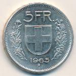 Швейцария, 5 франков (1965 г.)