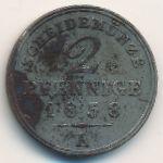 Шаумбург-Липпе, 2 пфеннига (1858 г.)