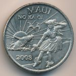 Гавайские острова, 1 доллар (2008 г.)