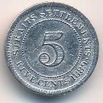 Стрейтс-Сетлментс, 5 центов (1889 г.)