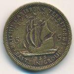 Восточные Карибы, 5 центов (1955 г.)