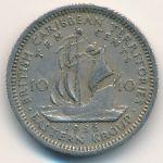 Восточные Карибы, 10 центов (1956 г.)