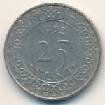 Суринам, 25 центов (1962 г.)
