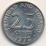 Тринидад и Тобаго, 25 центов (1972 г.)