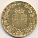Италия, 100 лир (1883 г.)