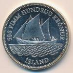 Исландия, 500 крон (1986 г.)