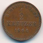 Вюртемберг, 1/2 крейцера (1864 г.)