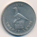 Родезия, 20 центов (1975 г.)