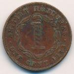 Британский Гондурас, 1 цент (1943 г.)