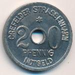 Крефельд., 20 пфеннигов (1919 г.)