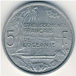 French Oceania, 5 francs, 1952