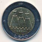 Сан-Марино, 500 лир (1987 г.)