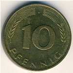 West Germany, 10 pfennig, 1950–2001