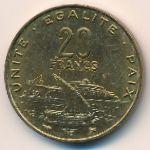 Джибути, 20 франков (1996 г.)