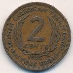 Восточные Карибы, 2 цента (1955 г.)