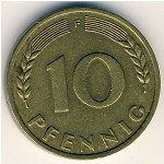 West Germany, 10 pfennig, 1949