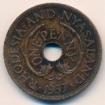 Родезия и Ньясаленд, 1 пенни (1957 г.)