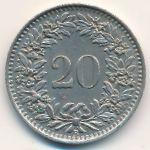 Швейцария, 20 раппенов (1943 г.)