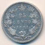 Канада, 25 центов (1881 г.)