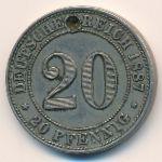 Германия, 20 пфеннигов (1887 г.)